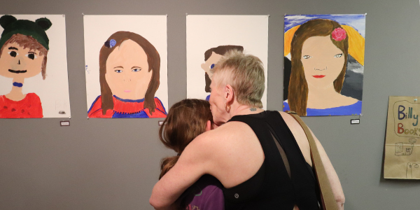 A tender moment shared a the ATCO Youth Gallery Opening, Sept 2018.
